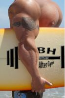 Surfer Pecs by wannabehuge