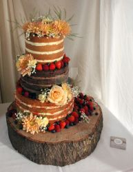 Naked Wedding Cake by KirstysCakes