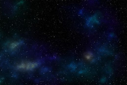 Starfield with nebulae by colfrankland