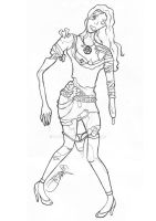 Zombie girl outlines by Pawloo