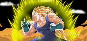 Vegeta Super Saiyan 3 by Maniaxoi