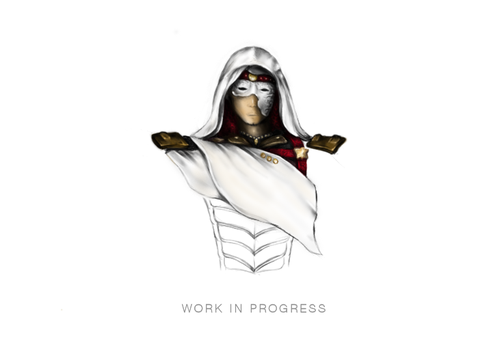 WIP Assassin Drawing by Dick3rl3