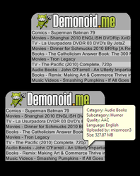 Demonoid RSS by JpsCrazy