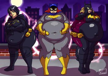 No More Skinny Girls - Part 4 - Batgirl by Axel-Rosered