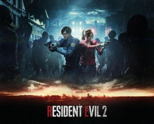 Resident Evil 2 Remake Video Game Cover Art by xGamergreaserx