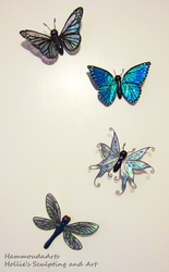 Dragonfly / Butterfly magnets by HollieBollie