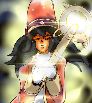 Marisa the great cleric- shine your light.. by Absolhunter251