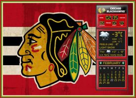 Chicago Blackhawks Scoreboard Info by kjc66