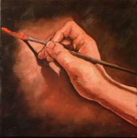 painting hand painting hand by RFord-Art