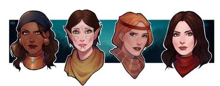 Dragon age girls by Mihitsu