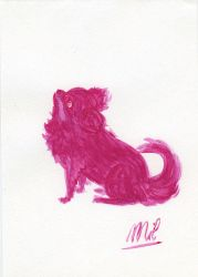 Pink Dog by honeymil