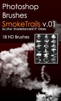 Shades SmokeTrails v.01 HD Photoshop Brushes by shadedancer619