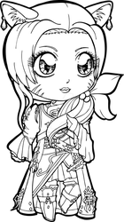 Final Fantasy XIV Syerra Commission by Chibivi-Linearts