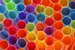 Colourful Plastic Straws by estjohn