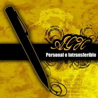 AGH Personal e Intransferible by Undesigns