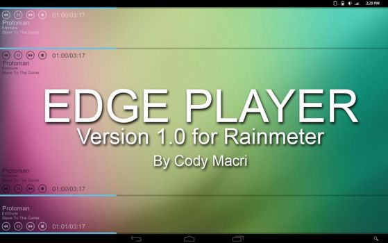 Edge Player for Rainmeter by CodyMacri