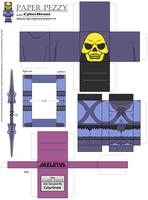 Paper Pezzy- Skeletor 'Classic' by CyberDrone