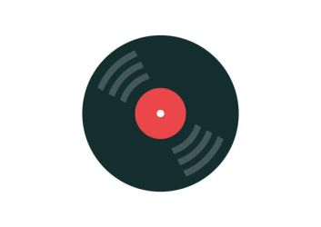 Vinyl Record Flat Style Free Vector Icon by superawesomevectors