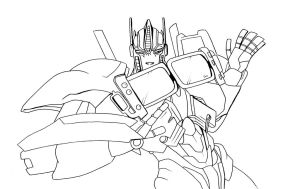 Playful Optimus lineart ::free 2 use:: by Lumen-Terra
