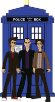 Doctor Who 9th, 10th, And 11th by JediBandicoot