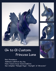 Custom Pony: G4 to G1 Princess Luna by SynCallio