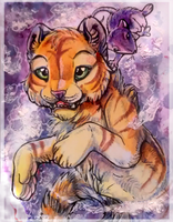 ACEO_MoonsongWolf by Kyuush