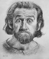 George Carlin Commission by ayaspiralout