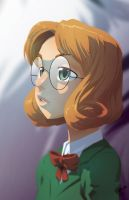 a portrait of a schoolgirl by theCHAMBA