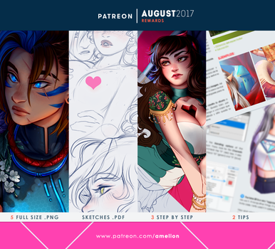 Patreon - AUGUST2017 rewards by Amelion