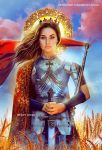 Joan Of Arc - - Saints and Mystic Reading Cards by Wesley-Souza