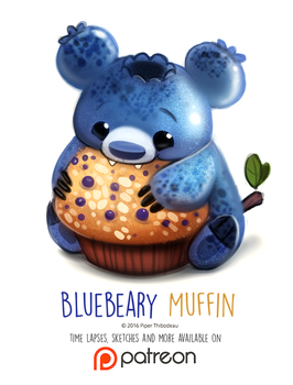 Day 1408. Bluebeary Muffin by Cryptid-Creations