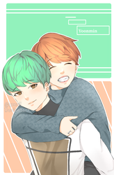 Jimin and Yoongi | Fanart | Request by Yooril