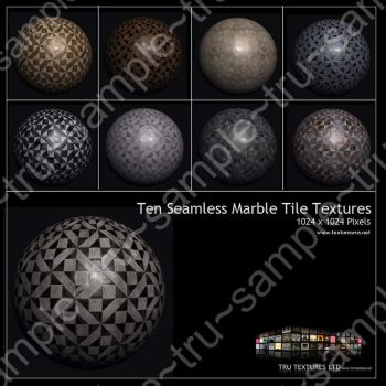 3D Tiling Marble Textures by roseenglish