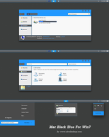 Mac Black Blue theme for Windows 7 by Cleodesktop