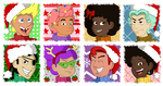 SpongeBob Musical Christmas Icons by xx-Night-Waker-xx