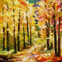 Steps Of Gold by Leonid Afremov by Leonidafremov