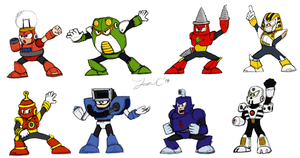 Robot Masters Sketch - MM4 by JonCausith