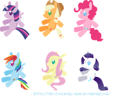 Mane Six Plushies by The-Clockwork-Crow
