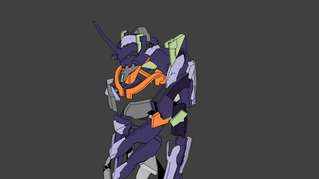 Progress Modeling, Super Evangelion by electrodude102