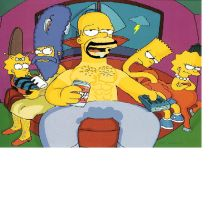 The Simpsons by cocoamoejoe