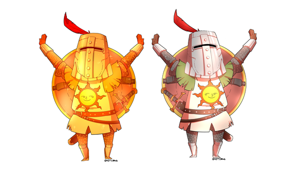 Solaire! + Gold Ver. by kittydrawsDA