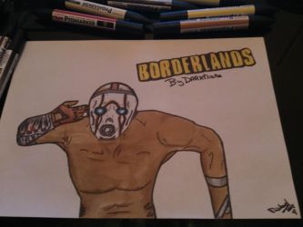 Borderlands Drawing with Promarker by Darkmicha91