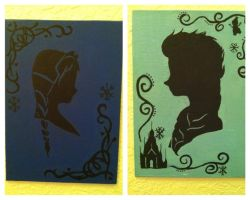 Ladies of Disney - Anna and Elsa close-up by songbirdholly