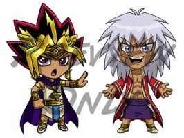Yu-Gi-Oh Chibis Pt. 3 by Red-Flare