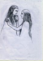 Celebrian's Farewell to Elrond by ThangVuong