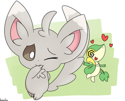 Minccino used Attract! by kemofoo