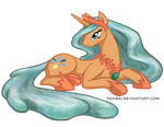 24 Hour Art Mare-a-thon: Princess Wellwishes by Dembai