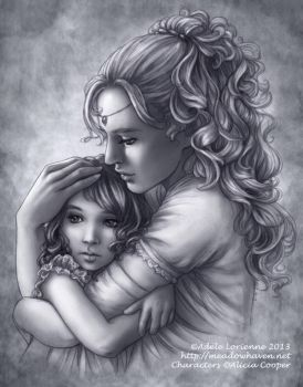 A Mother's Embrace by Saimain