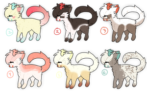 Adopts: Deer-Cat edition #5 (6/6 open) by mothfall