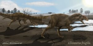 Allosaurus fragilis by arc-one
